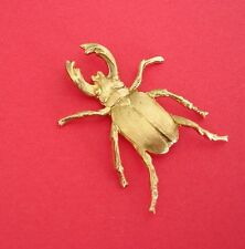 Large Beetle Scarab Raw Brass  Stamping Ornament Pendant Jewelry Findings.