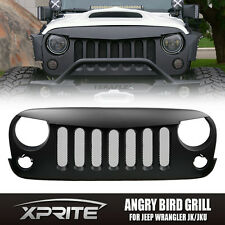 Black Angry Birds Grille Grill with Steel Mesh for Jeep Wrangler JK 2007-2017
