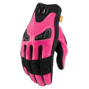 Icon Motorsports Automag Womens Street Riding Cruising Motorcycle Gloves