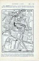 Auch 1923 pt plan ville orig. + guide (2 p.) St. Pierre Cordeliers Villaret