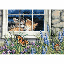 Gold Cross Stitch Finished Embroidered Pieces