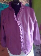 Hot in Hollywood Faux Leather Coat Motorcycle Jacket Purple Size 1x
