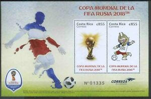 Costa Rica 2018 Sport, Soccer, Football, FIFA World Cup In Russia MNH**