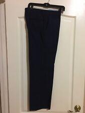 Brooks Brothers Navy Blue Flat Front Dress Pants Size 33