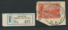 South Australia - Angaston Registration Label & Postmark.