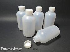 bottiglie flaconi plastica 100ml x5 graduati contenitori tappo vite x campioni