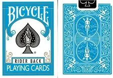Turquoise Rider Back Deck Bicycle Playing Cards Poker Size Custom Color Sealed