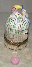 New Cage With Birds And Heart, Limoges Box Number 62 New