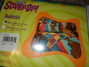 NWT Vintage Disney SCOOBY DOO Silhouette TWIN/Single BED SKIRT Dust Ruffle