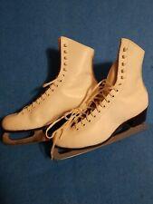New listing Vintage Riedell Women Usa Ice Skates England Sheffield Steel John Wilson Sz 8