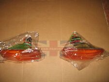New Pair of Front Turn Flasher Light Lens Assemblies MGB 1975-1980