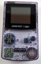 Nintendo Game Boy Color Atomic Purple Cleaned New Screen & Original Housing!