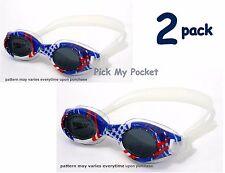 Speedo Junior Hydrospex Swim Goggle Vibrant Blue - 2 pack