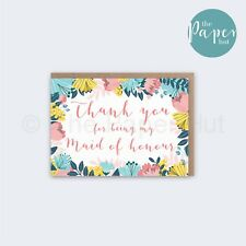 Maid of Honour Card | Thank you for being my Maid of Honour
