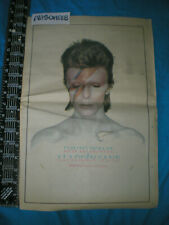 David Bowie Aladdin Sane Lp Vintage 1973 Full-Color Large 11X17 Ad Poster