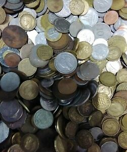 Job Lot Of Old/foreign Money Currency Coins 12.3kg Unchecked