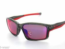 CLEARANCE~OAKLEY SUNGLASSES 9247-10 CHAINLINK GREY SMOKE RED IRIDIUM POLARIZED
