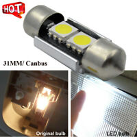 1PC 31MM Festoon 2SMD Canbus LED Lights - Number Plate Bulbs 239 30mm 32mm C5W