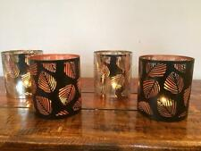 PAIR OF TEA LIGHT LEAF CANDLE HOLDERS T LIGHT NICKEL or BLACK COPPER FINISH TL-5