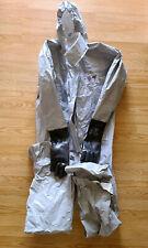 Pro Chem 3s Tychem F Hazmat Suit With Vinyl Gloves Hood Feet Size Xxl