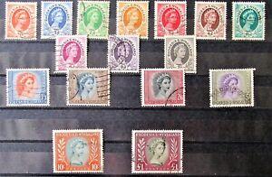 L3 - RHODESIA & NYASALAND 1954 / 56  SET FINE USED ON STOCK-CARD