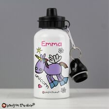 Personalised Bang On The Door Unicorno Scuola Bevande Bottiglia per Bevande Acqua-Girls