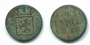 1/4 STUIVER 1825 SUMATRA NETHERLANDS EAST INDIES Copper Colonial Coin #S11665.U