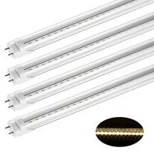 4X 60cm T8 LED Röhre Leuchtstofflampe Tube Transparent Lichtleiste Warmweiß 220V