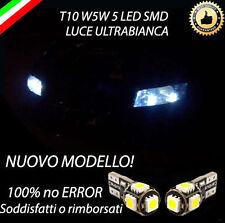 SET COMPLETO LUCI DI  POSIZIONE 5 LED FIAT STILO T10 W5W CANBUS 100 %NO ERROR