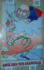 1971 Jack and the Beanstalk Poster Vintage Gemini Rising / Rare & Original