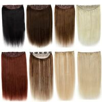 Full Head One Piece 5 Clip In Remy Human Hair Extensions & Hair pieces Straight