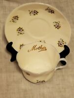 """VINTAGE QUEENS TEA CUP & SAUCER by ROSINA CHINA CO. LTD """"Mother"""""""