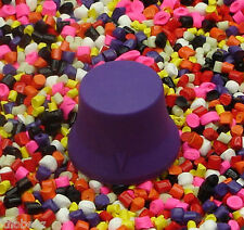 Three 3 Standard KNOBEEZ MADE IN USA Rubber Guitar Knobs and Bass Knobs - Purple
