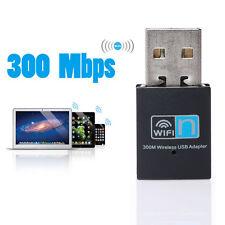 Mini WiFi WLAN Wireless Adapter USB 2.0 Stick Dongle 300 Mbit IEEE 802.11b/g/n