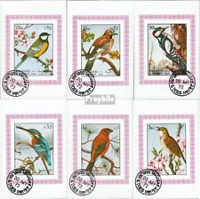 Sharjah Block1178B-Block1183B fine used / cancelled 1972 Birds