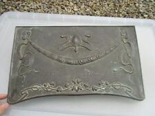 Art Nouveau Bronze Fire Hood Fireplace Architectural Antique Old 1905 Floral