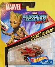Hot Wheels 2017 1:64 Marvel Character Cars Guardians Galaxy II GROOT GO-KART