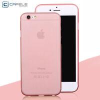 Ultra Fin Mat Transparent TPU Coque Étui Noir Pour Apple iPhone 5S 6 6S 7 7 Plus
