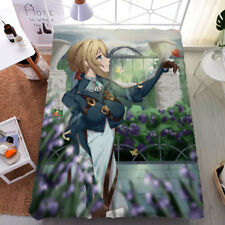 Anime Violet Evergarden Otaku Double-bed King Size Bed Sheet Gift 59*79'' #JH17