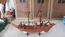 Altes Modellschiff Holz Segeljacht 2-Master