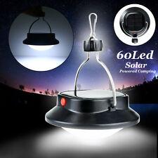 60 LED Portable Solar Powered Camping Nightlight Hanging Tent Light Wall Lamp