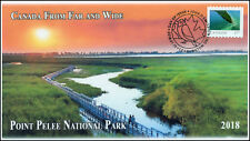 CA18-017, 2018, From Far and  Wide, Point Pelee, Day of Issue, FDC, $1.20 Stamp