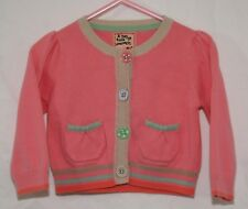 Next Girls Sweater Size 9 -12 Mos Pink Cotton Button Front