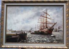 HOLLAND - HARBOUR VIEW - WIM BOS (1906-1977) DUTCH