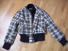 Ladies RIVER ISLAND bomber style jacket size 14 very warm and v heavy vgc