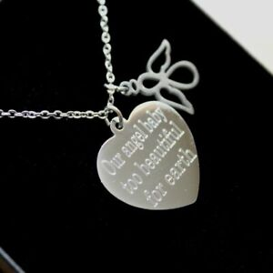 Guardian Angel Necklace Memorial Pendant Personalised Engraved Jewellery Gifts