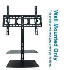 """TV Wall Mount Bracket 32"""" 65"""" with Floating Shelves For Sky Box Blueray DVD Xbox"""