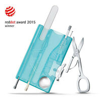 VICTORINOX SWISS CARD SWISSCARD NAILCARE TURQUOISE MANUCURE 13 OUTILS/0.7240.T21