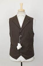 NWT BRUNELLO CUCINELLI Brown Cotton Vest Waistcoat Size 52/42/L $1005