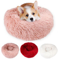 1PC Pet Dog Cat Calming Bed Round Nest Warm Soft Plush Comfortable for Sleeping